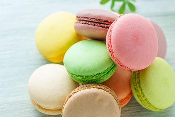 Photo sur Toile Macarons 洋菓子 マカロン