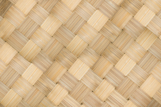 texture background of bamboo basketry,bamboo weave pattern,woven pattern of bamboo