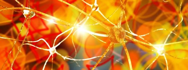 Brain neuron, brain activity, human neural network, nerve node, 3D rendering.