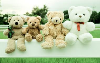 Friends Teddy Bear Tone Vintage Images
