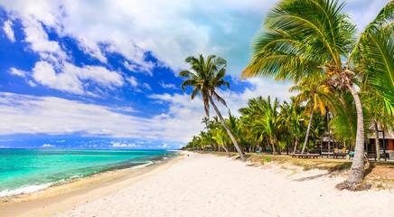Tropical beach scenery - beautiful Mauritius island
