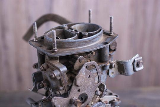 Old carburetor for gasoline engines of cars.