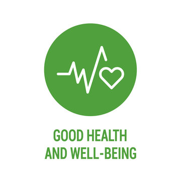 Good health and wellbeing color icon. Corporate social responsibility. Sustainable Development Goals. SDG color sign. Pictogram for ad, web, mobile app. UI UX design element. Editable stroke