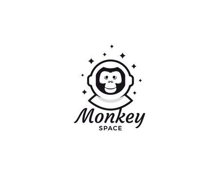 Monkey space logo design