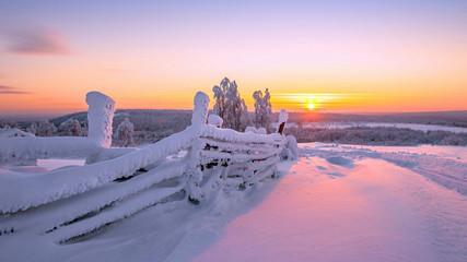 Foto auf Leinwand Baume winter landscape wallpaper