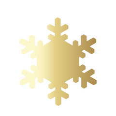 Vector snowflake icon.  illustration for web