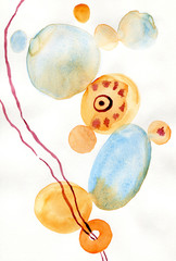 Watercolor abstract art