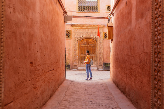 Girl in the Old Town of Kashgar
