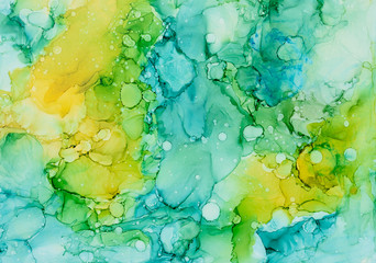 Abstract background made with alcohol inks