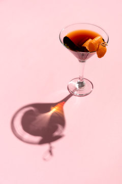 Red Martini with strong shadows