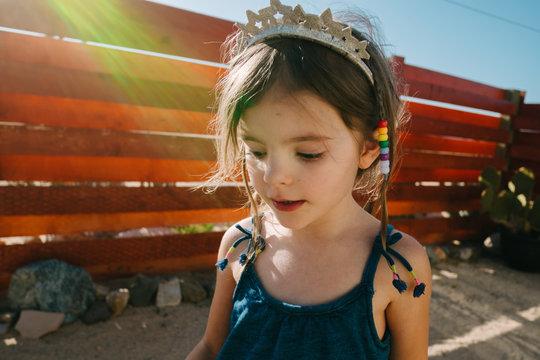 little girl in princess crown