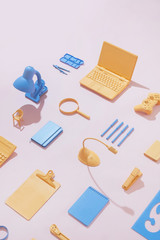Office Supplies / Stationary /Blue and Yellow
