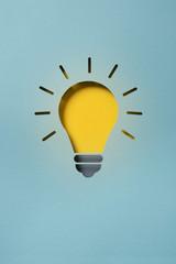 Lightbulb representing an idea