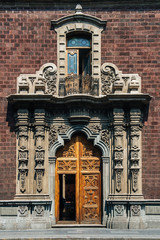 Very Old Door of a cathedral in Mexico city