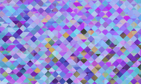 Vibrant Colorful Mosaic Background/Pattern