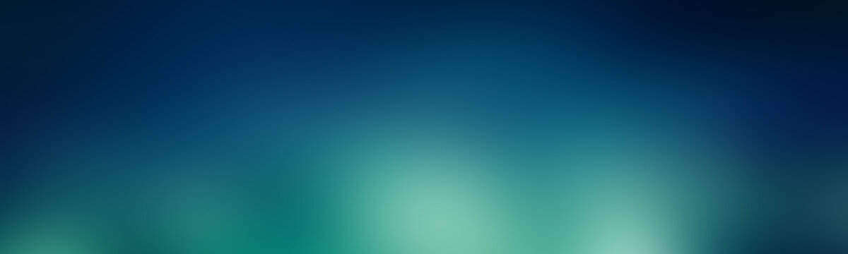 Green-blue gradient abstract background. aurora wallpaper backdrop.