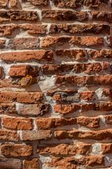 old brown brick wall vintage texture background.