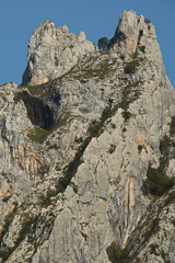 Scenic rock at hiking track Ruta del Cares from Poncebos to Cain in Picos de Europa in Asturia,Spain,Europe