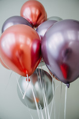Bunch of balloons of different colors