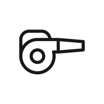 Garden blower isolated icon, leafs air blower linear vector icon