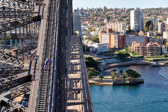Sydney Australia. Climbing Harbour Bridge