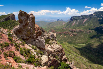 Big Bend National Park in a summer day