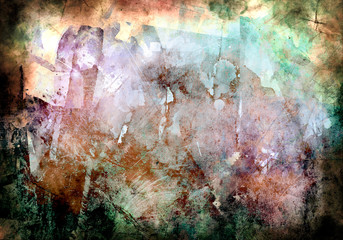Abstract grunge creative wallpaper with different colors