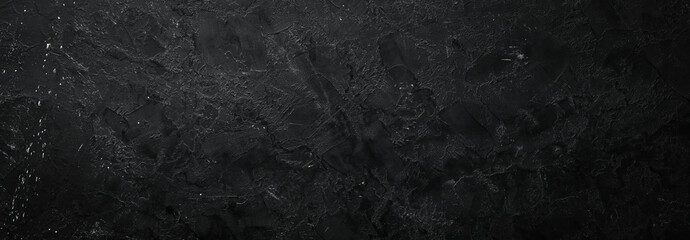 Black stone background. Stone texture. Top view. Free space for your text. Fotobehang