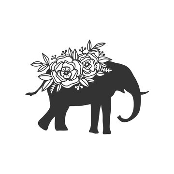 Beautiful animal cut file with floral