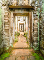 Preah Khan Temple, Angkor Thom, Siem Reap,  Cambodia.