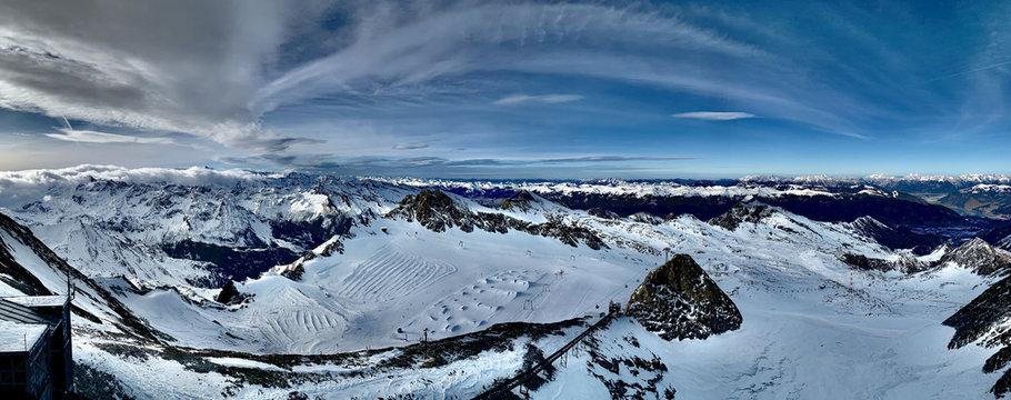 Kitzsteinhorn im Winter Panorama