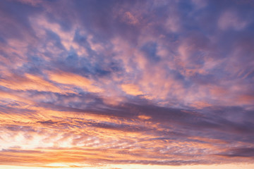Amazing cloudscape on the sky at sunset time. Fotobehang
