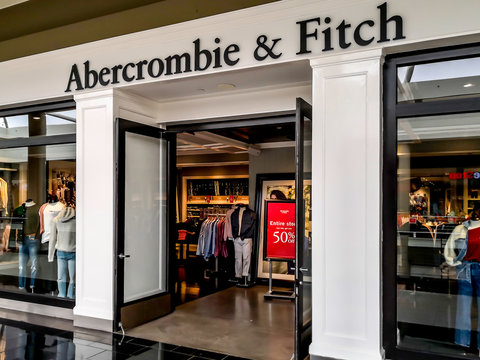 Cheektowaga, NY, USA - September 22, 2019: Abercrombie & Fitch store in the Cheektowaga, NY, USA. Abercrombie & Fitch is an American lifestyle retailer that focuses on upscale casual wear.