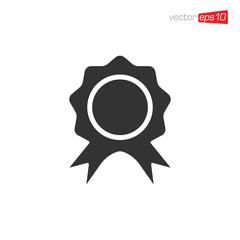 Rosette Medals Icon Design Vector
