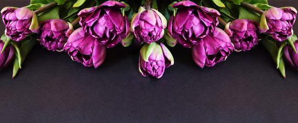 Wall Murals Floral Purple peony tulip flowers