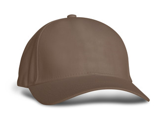 Promote your hat brand across with this Side View Amazing Baseball Cap Mock Up In Royal Brown Color.