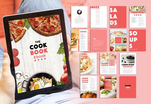 Peach Color Recipes Digital eBook Layout