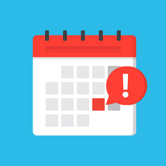 Calendar deadline or event reminder notification