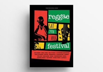 Reggae Music Event Poster  Layout