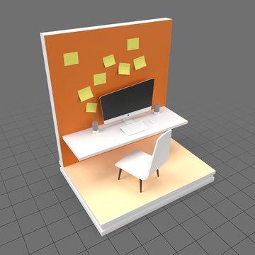 Stylized workspace