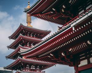 Foto auf Leinwand Kultstatte Japanese temple Pagoda