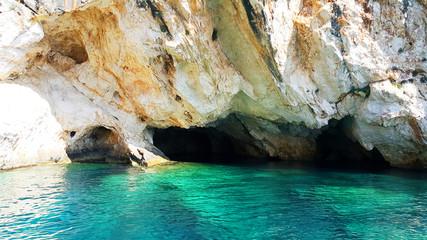 Zakynthos, blue cave, Greece, Europe