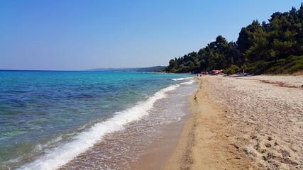Chalkidiki Grecja plaża morze piasek