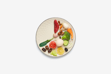16:8 intermittent fasting diet concept.