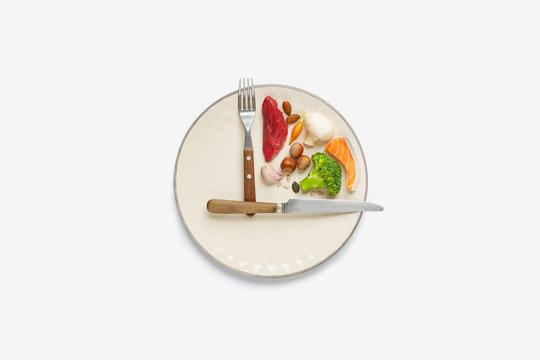 20:4 intermittent fasting diet concept.