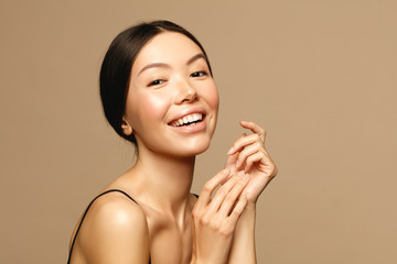 Asian young woman portrait. Skin care,Beauty treatment and spa concept.