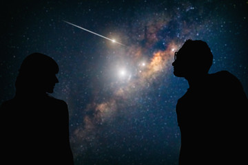 Couple under the Milky way stars. My astronomy work. Fotomurales