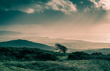 Dodging the Showers on Sunday at Mottistone Down, Isle of Wight