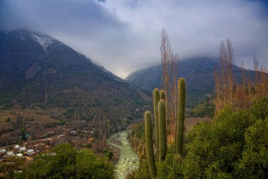 Cascada de las Animas in Cajon del Maipo, Chile