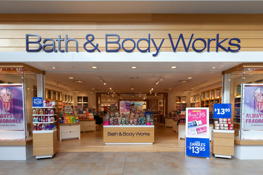 Toronto, Canada - February 7, 2018: Both & Body works store front in the Fairview Mall in Toronto